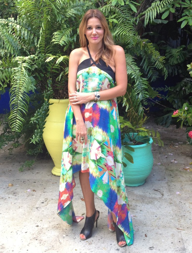 Suboo designer Sue Di Chio shows off one of the newest designs in her swim '13 collection.