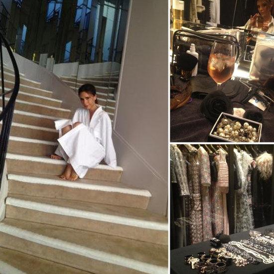 Victoria Beckham's Karl Lagerfeld French Elle Shoot at Chanel Paris