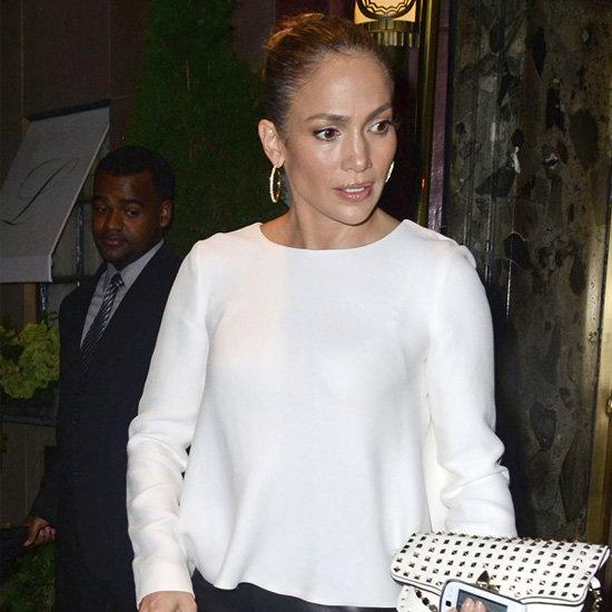 Jennifer Lopez Wearing Black Leather Pants