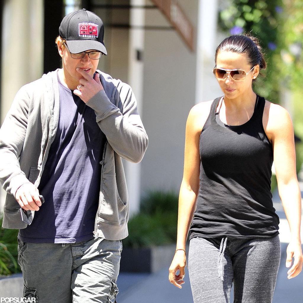 Matt and Luciana Damon went to Pilates.