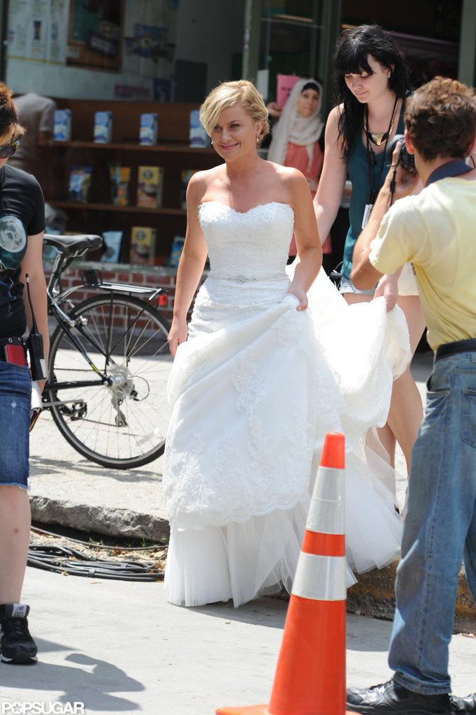 Amy Poehler Wedding Dress Pictures | POPSUGAR Celebrity