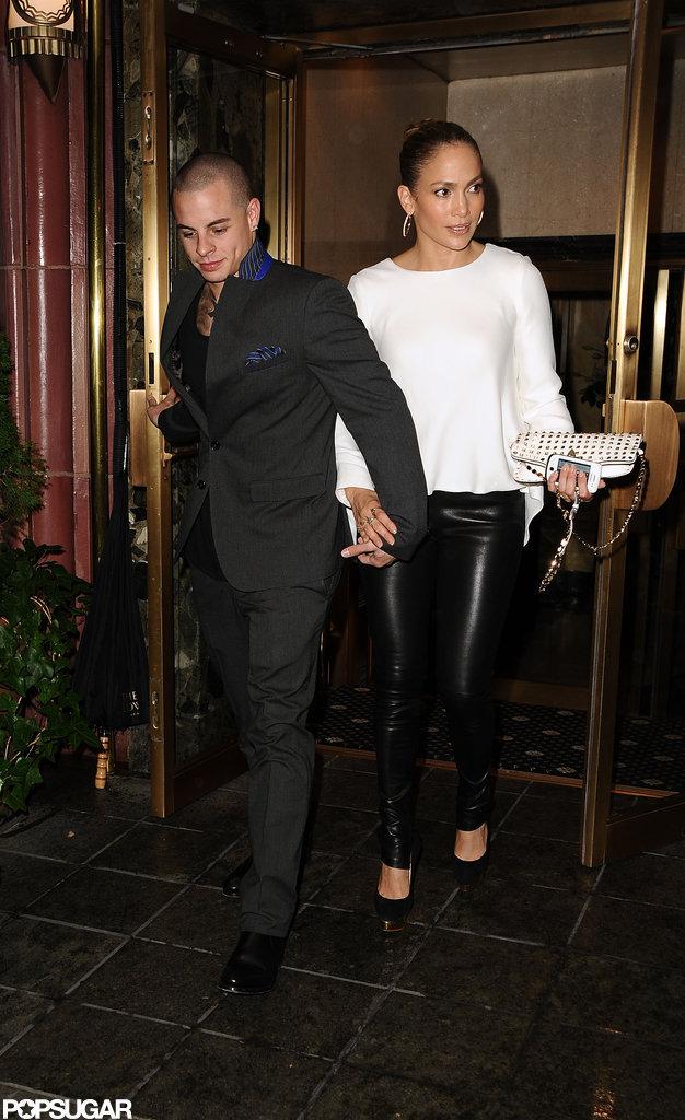 Jennifer Lopez and Casper Smart had a dinner date in NYC.