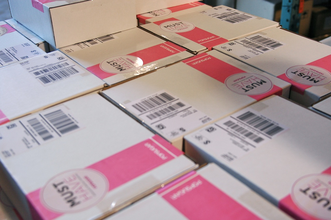 The POPSUGAR Must Have boxes are all stacked up and ready to ship!