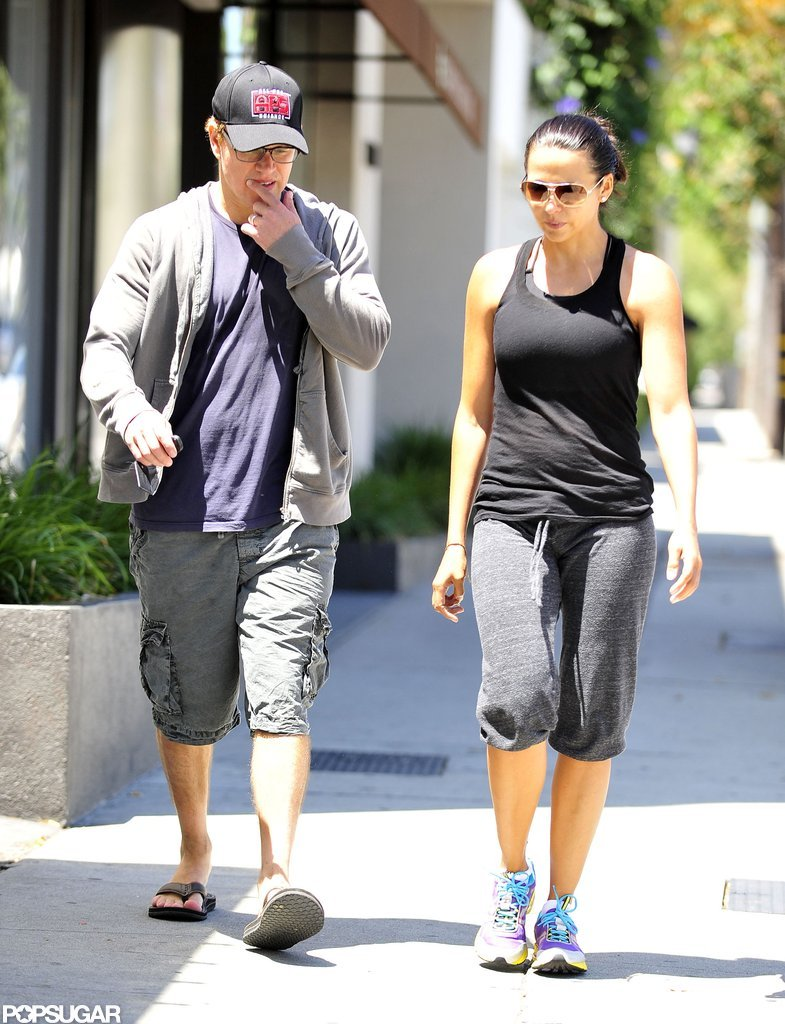 Matt Damon and his wife worked out in LA.