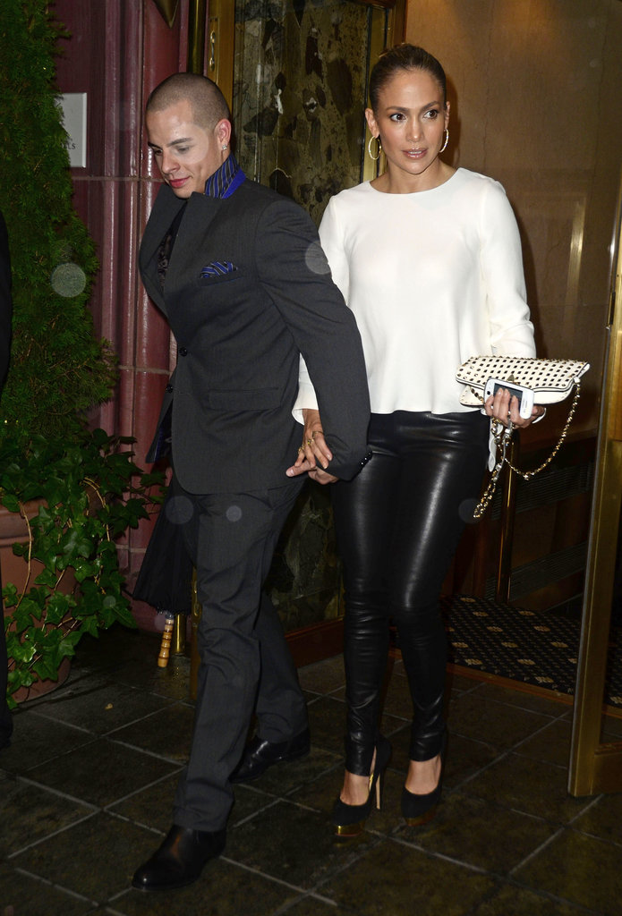 Jennifer Lopez and Casper Smart departed from dinner in NYC.
