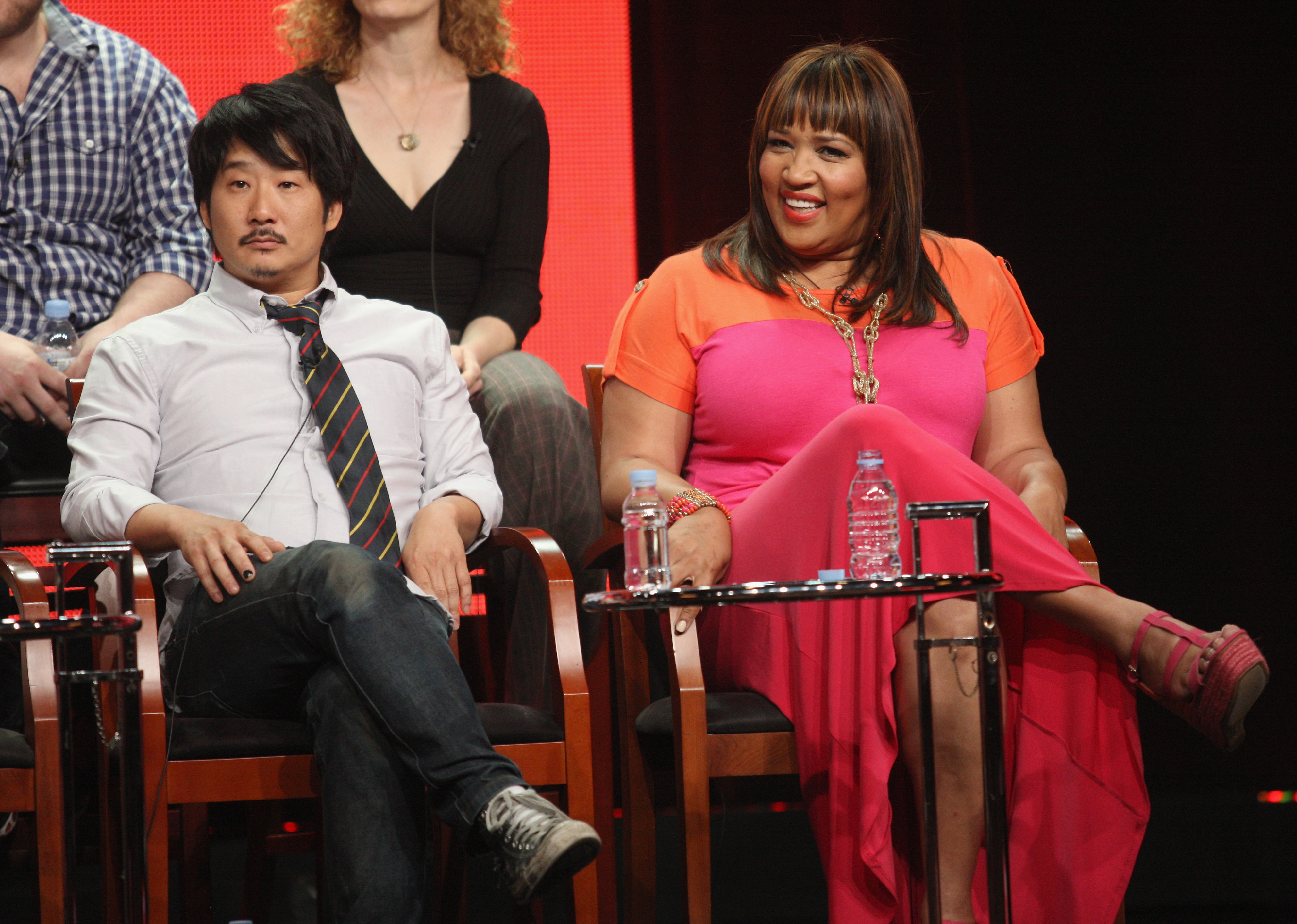 Bobby Lee sat next to his costar Kym Whitley at the show's panel.