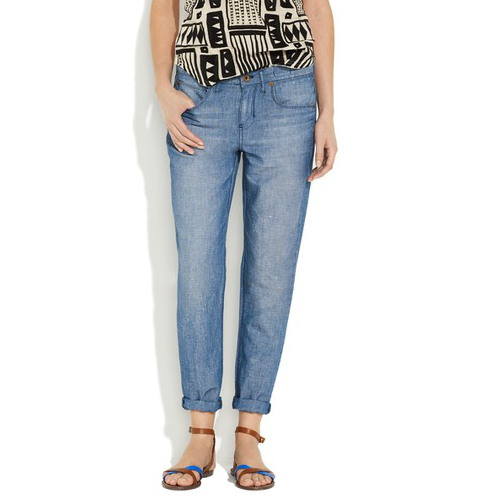 We're pretty sure this is the ultimate slouchy boyfriend jean, perfect for lazy days but with a slick vibe. Madewell The Boyjean in Cannonball Wash ($90, originally $125)