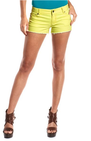 The neon trend is the gift that keeps on giving — this time in a bold, short, lemon-yellow version. Charlotte Russe Hot Kiss Neon Yellow Denim Short ($10, originally $20)
