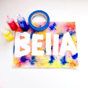 Spray Paint Craft For Kids