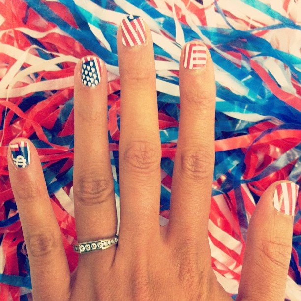 The team at Teen Vogue looked ready to support the USA. Source: Instagram User teenvogue