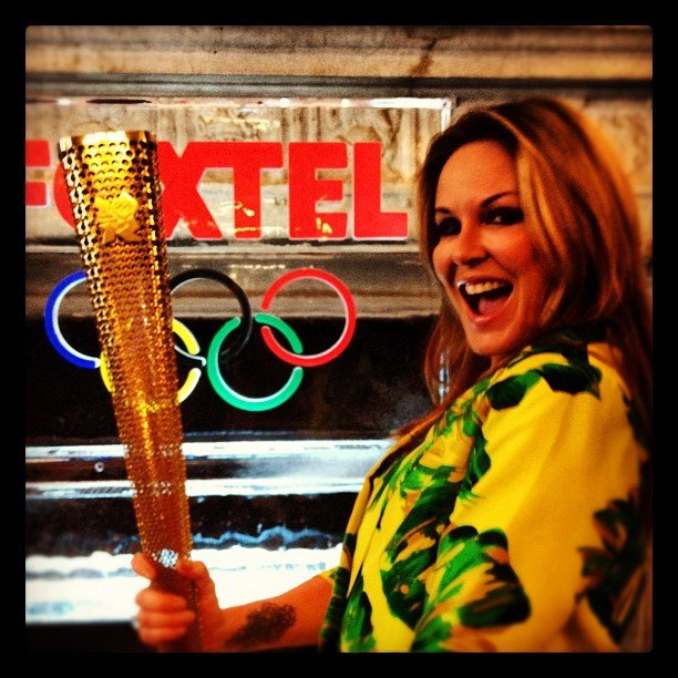 Charlotte Dawson held an Olympic torch. Source: Instagram user mscharlotted