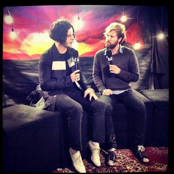 Danny Clayton sat down with Jack White for a chat. Source: Instagram user dannyclayton