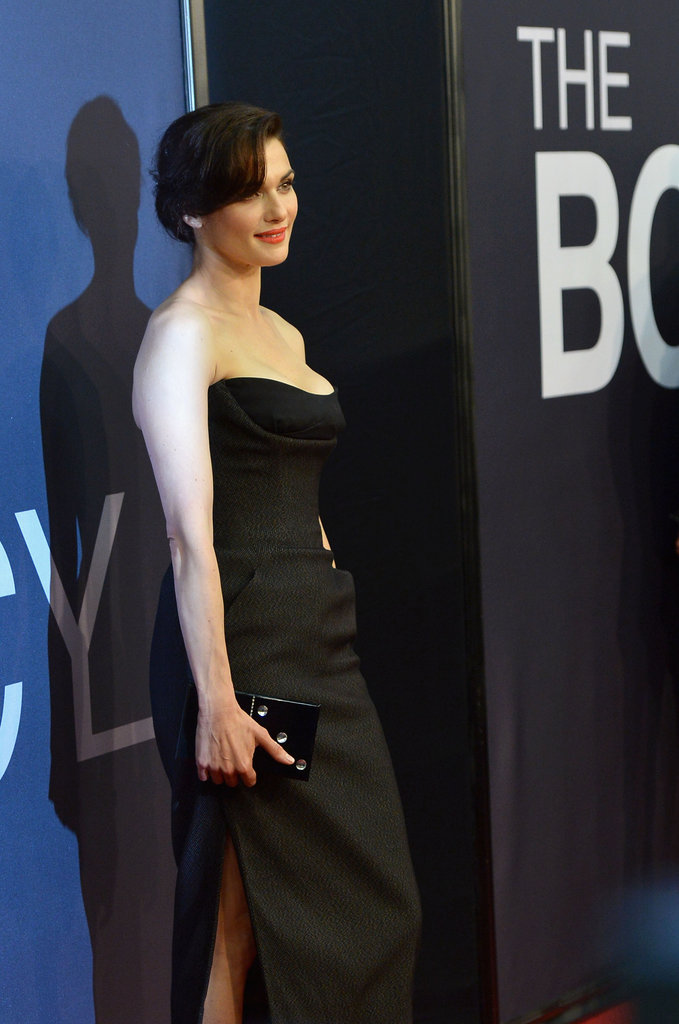 Rachel Weisz wore a black Dior dress with a high slit to The Bourne Legacy's world premiere in NYC.