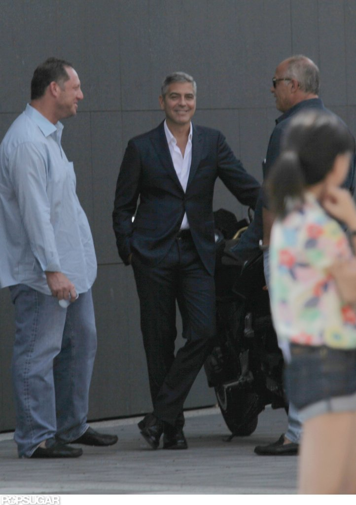 George clooney wore a sexy suit george clooney suits up for a sexy