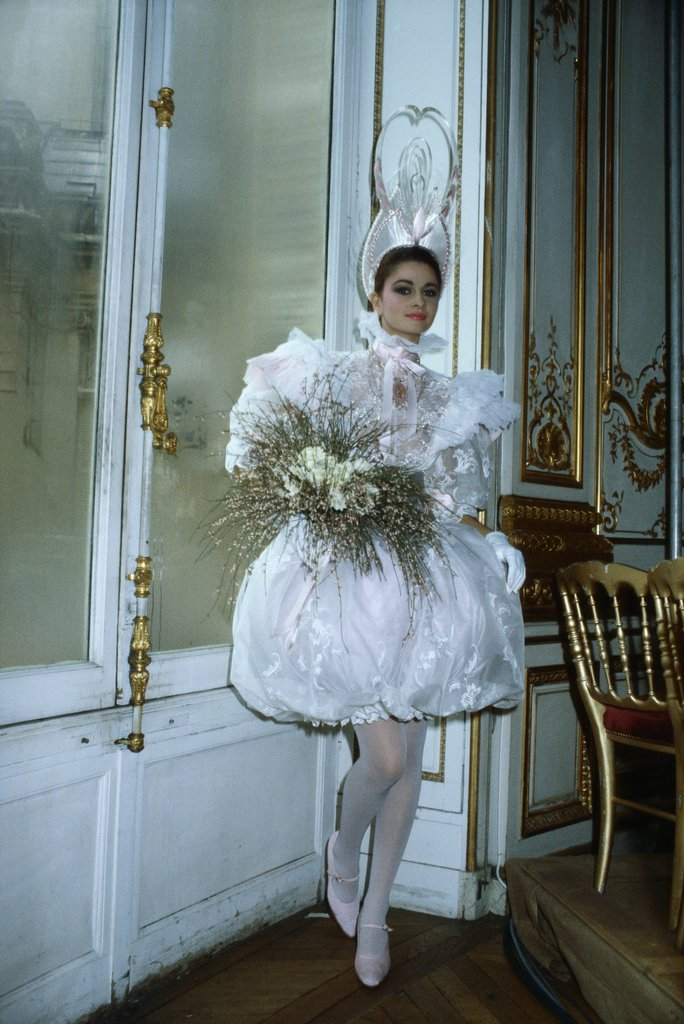 Dolled up in a luxe wedding gown creation for the ysl fall for Yves saint laurent wedding dress