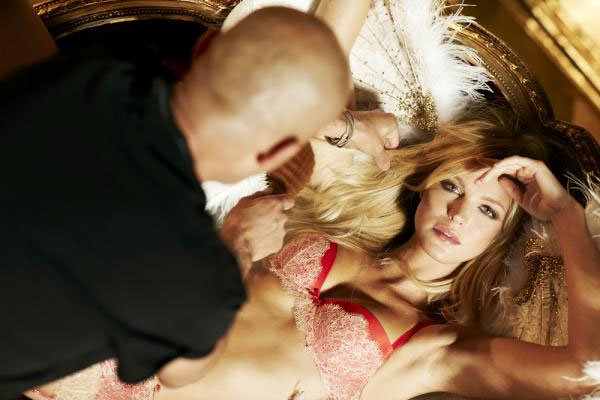 Erin Heatherton looked pretty relaxed shooting for Victoria's Secret.