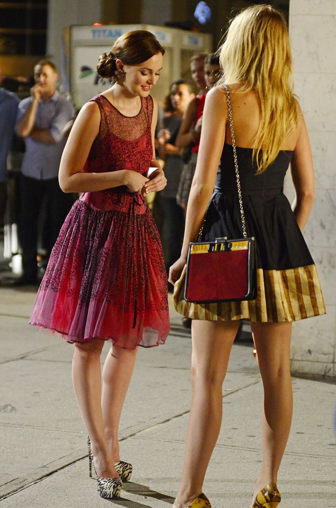 Blake Lively and Leighton Meester teamed up on set.