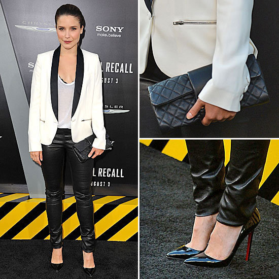 Steal Sophia Bush's Slick Menswear Inspired Look from the LA Total Recall Premiere via Shopstyle Australia