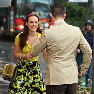 Gossip Girl Stars Ed Westwick, Leighton Meester, Penn Badgley and Blake Lively on Set of Final Season