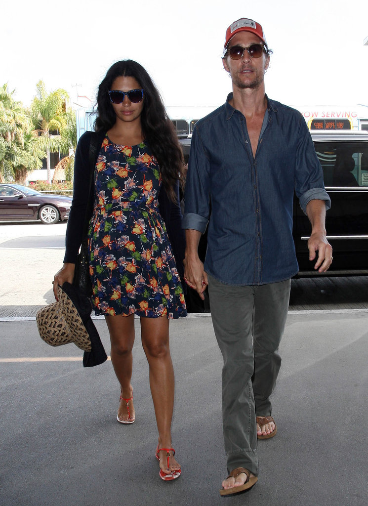 Matthew McConaughey and Camila Alves walked into LAX together.