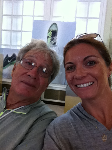 misty maytreanor checked out nike house with her dad