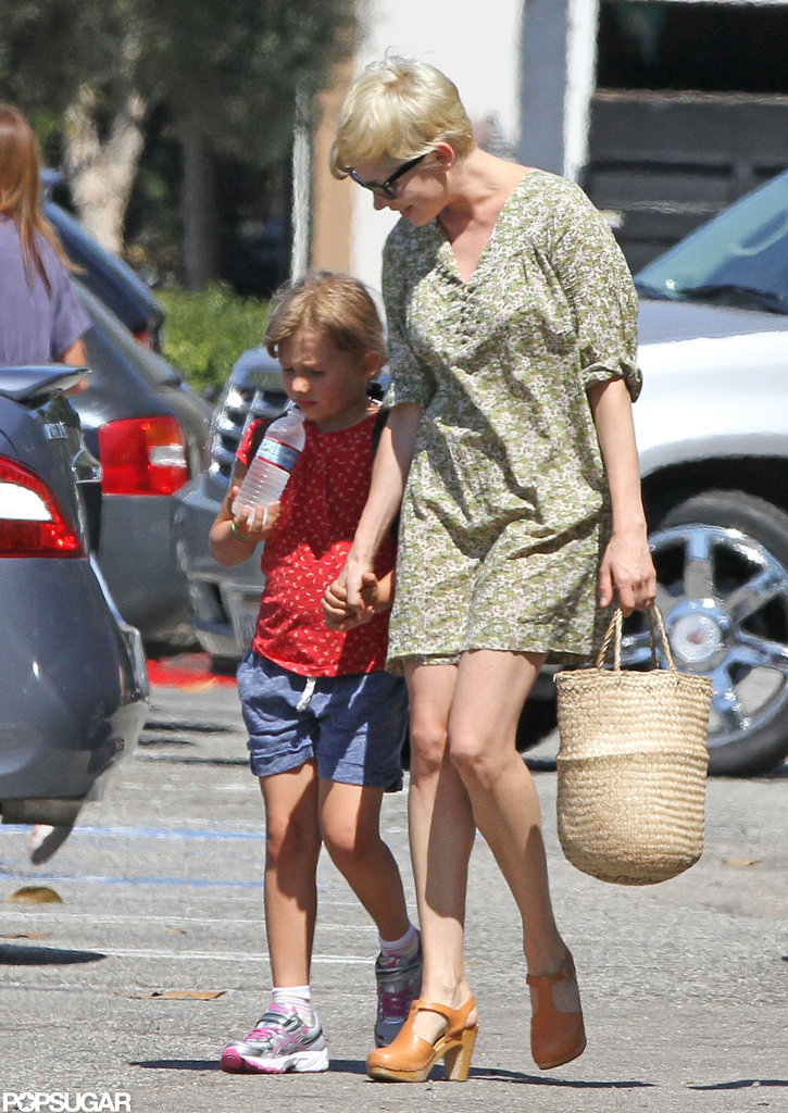 Michelle Williams and Jason Segel Settle In With Matilda in LA