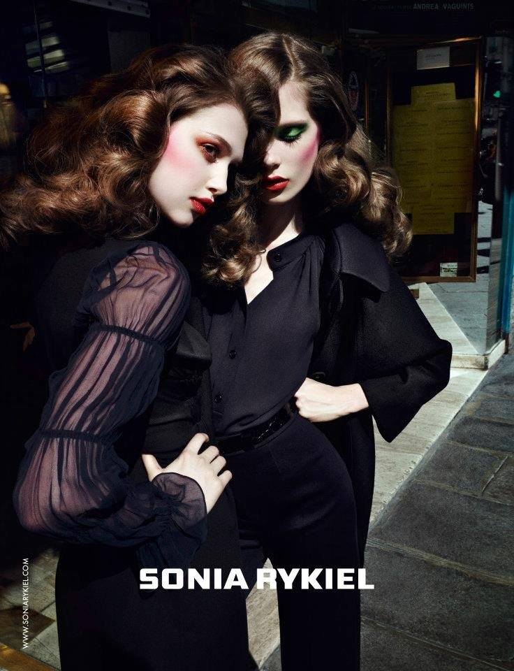 Evening glamour and drama reigned in Sonia Rykiel's Fall 2012 ads.