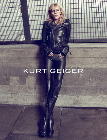 An all leather getup courtesy of Kurt Geiger.