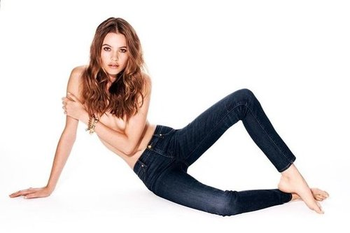 Behati Prinsloo goes topless in the Juicy Couture Jean Fall 2012 campaign.