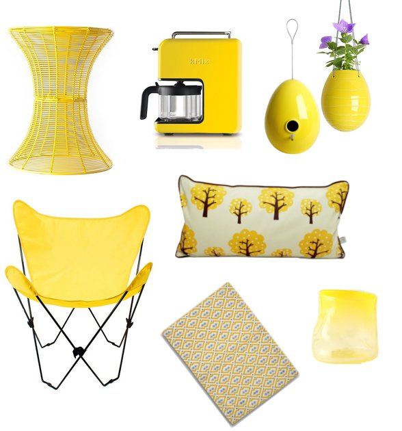Yellow home decor shopping for spring popsugar home - Home accessories yellow ...