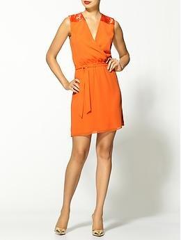 Erin Fetherston Dense Bugle Embellished Shoulder Wrap Dress | Piperlime