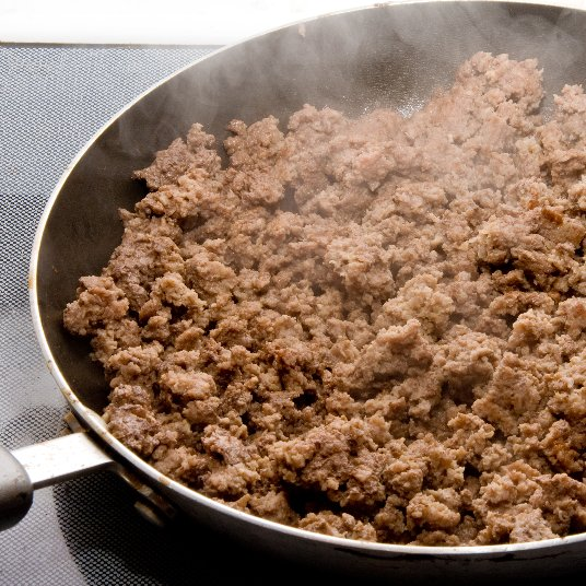 Sauteed Ground Beef and Pork