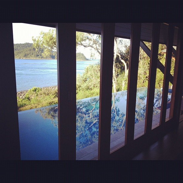 Miranda Kerr captured the view from her room at the Qualia Resort on Hamilton Island.  Source: Instragram user MirandaKerr