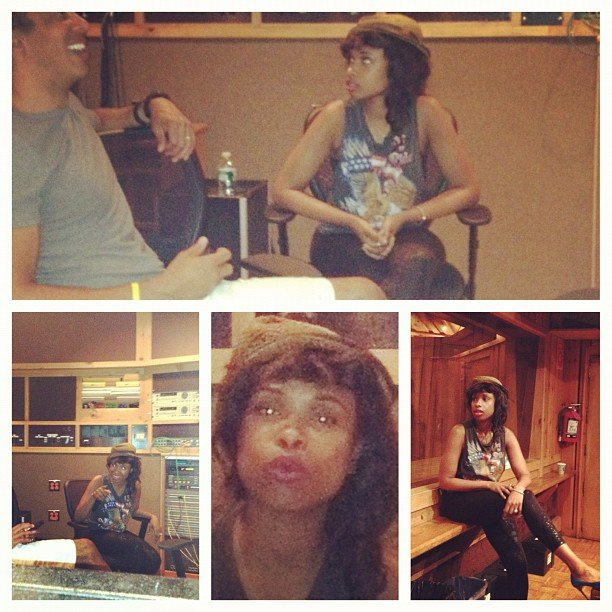 Jennifer Hudson shared some in-studio snaps. Source: Instagram user jhuddiva1