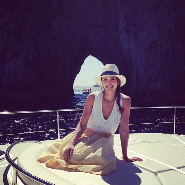 Jessica Alba took a boat tour off the coast of Italy.  Source: Instagram user jessicaalba