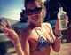 Doutzen Kroes sipped on her favorite drink in the sun.  Source: Doutzen Kroes on WhoSay