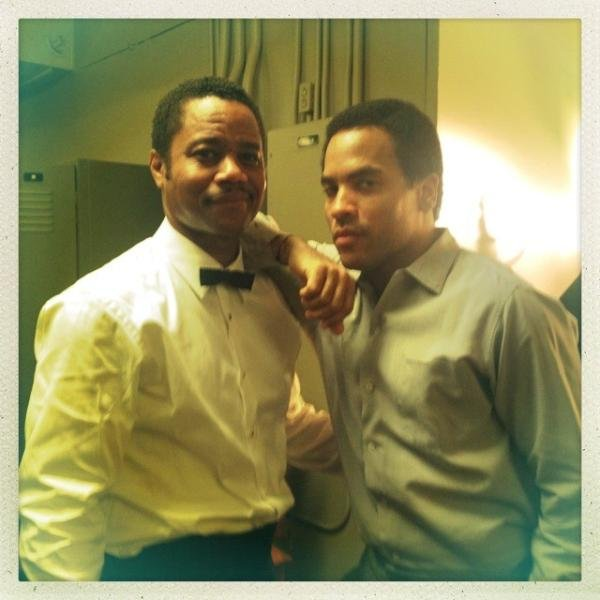 Cuba Gooding Jr. and Lenny Kravitz looked dapper on the set of The Butler. Source: Twitter user LennyKravitz