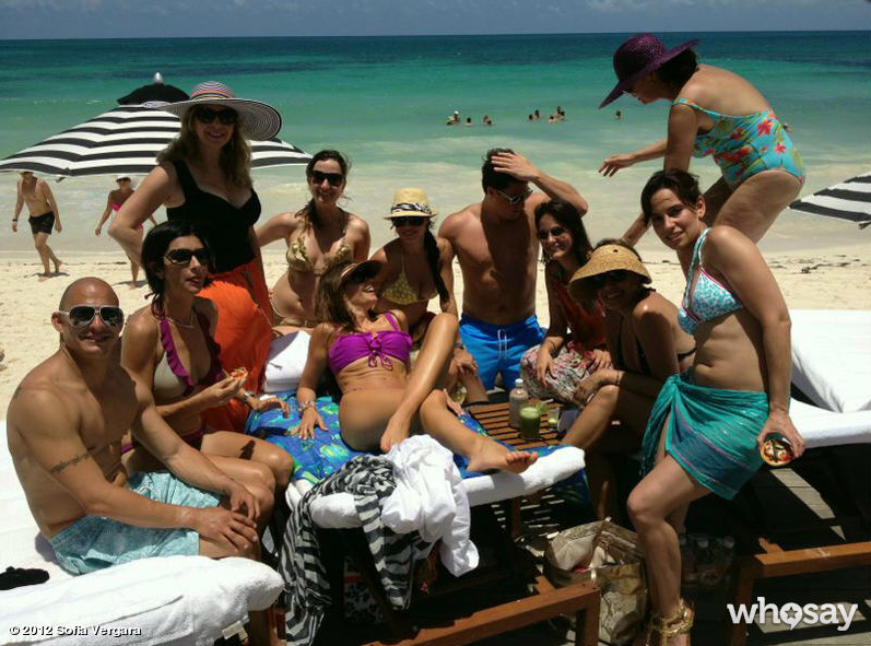 Sofia Vergara celebrated her 40th birthday in Mexico with family and friends.  Source: Sofia Vergara on WhoSay