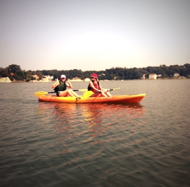 Kate Bosworth got active with a kayak ride.  Source: Kate Bosworth on WhoSay