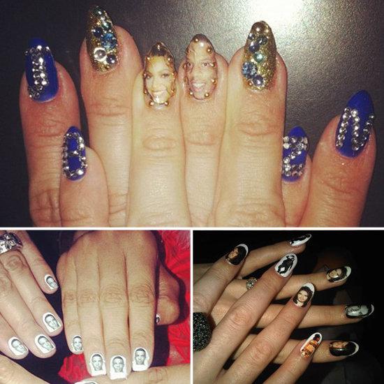 Celebrity Romantic Nail Art