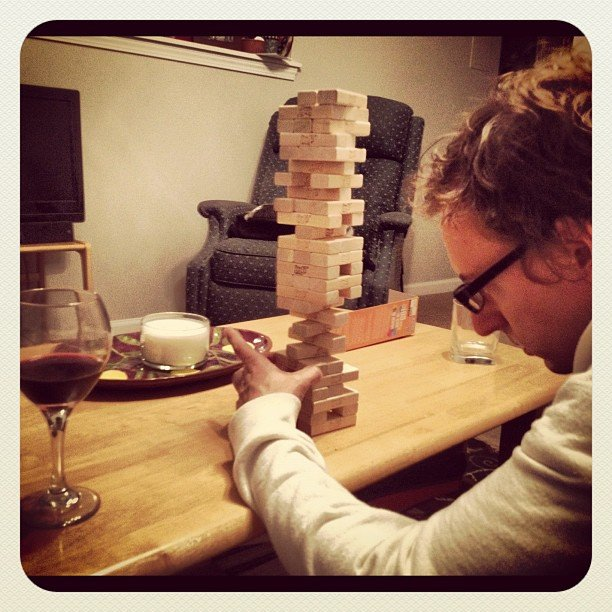 Pair Jenga and Wine