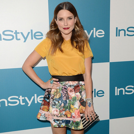Sophia Bush Wearing a Floral Skirt