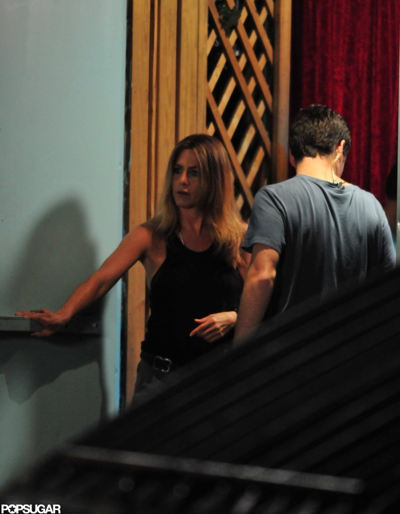 Jennifer Aniston took a break from filming We're the Millers to hang with Justin Theroux.