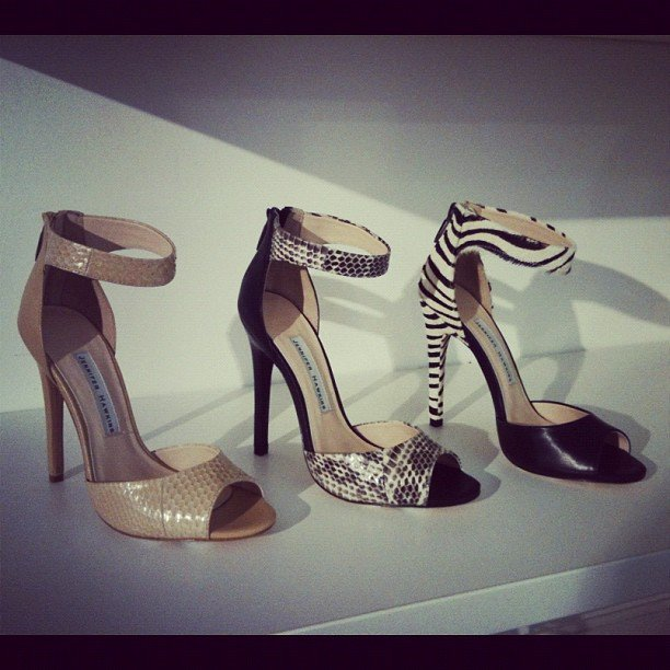 Jennifer Hawkins is knocking it out of the park with these JLH shoes. We can't decide which to buy first!