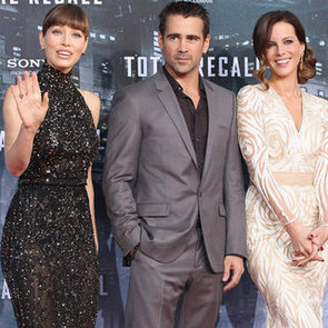 Total Recall Berlin Premiere Celebrity Pictures With Jessica Biel, Kate Beckinsale and Colin Farrell