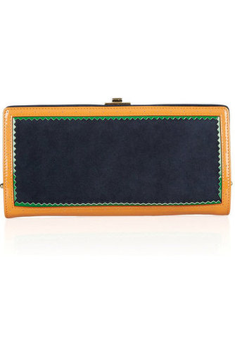 Jason Wu | Jourdan suede and patent-leather clutch | NET-A-PORTER.COM