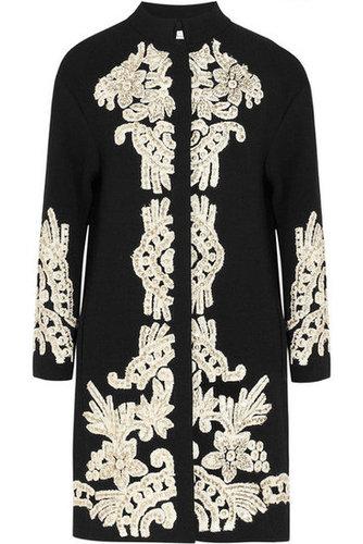 Oscar de la Renta|Embellished wool-crepe coat|NET-A-PORTER.COM