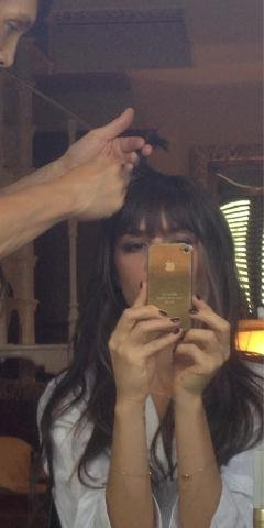 Victoria Beckham had her hair done for the closing ceremony. Source: Twitter user victoriabeckham