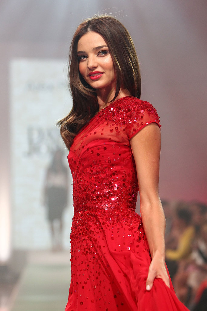 Miranda Kerr attended the launch of David Jones's 2012-2013 line.
