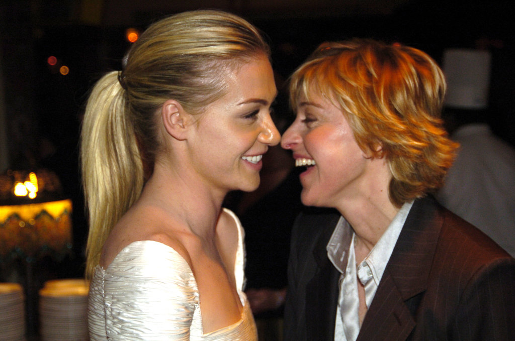 The duo locked gazes at a January 2005 Golden Globes bash.